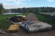 Fly-tipping at Petersham Meadows